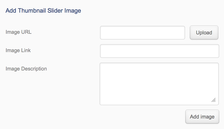 how to add thinkup slider images