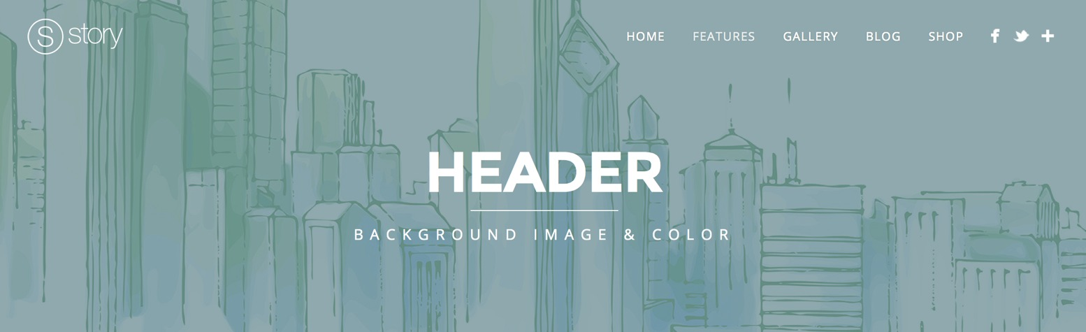 header background image story wordpress theme